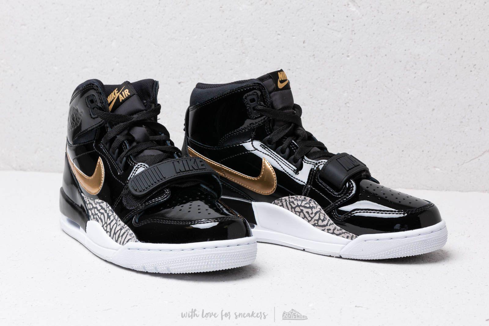 77f09cd0c49bf7 Lyst - Nike Air Jordan Legacy 312 Black  Metallic Gold  White in ...