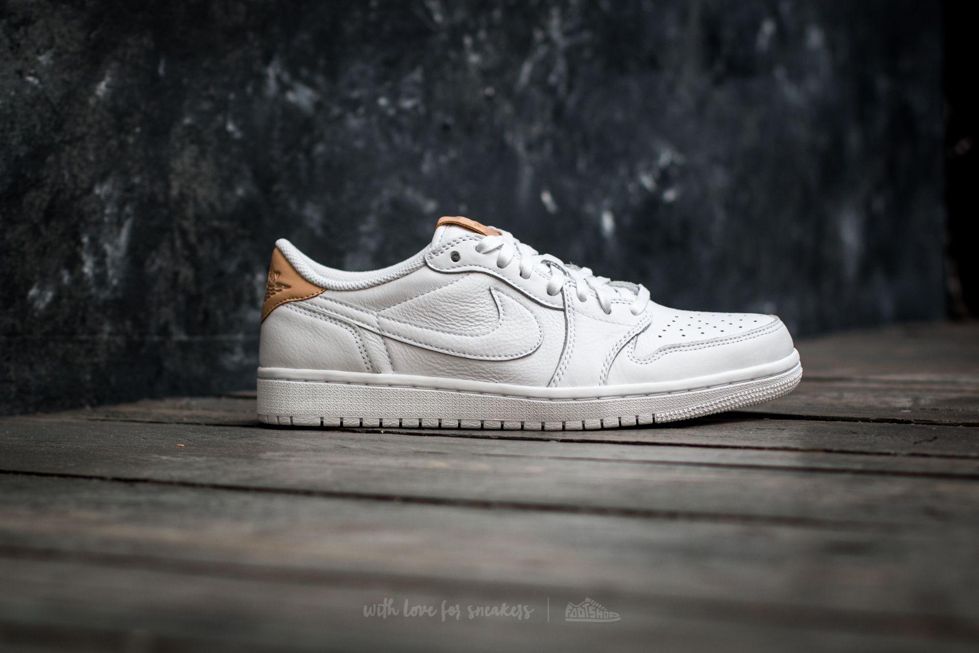 Nike Leather Air 1 Retro Low Og Premium White/ Vachetta Tan-white ...