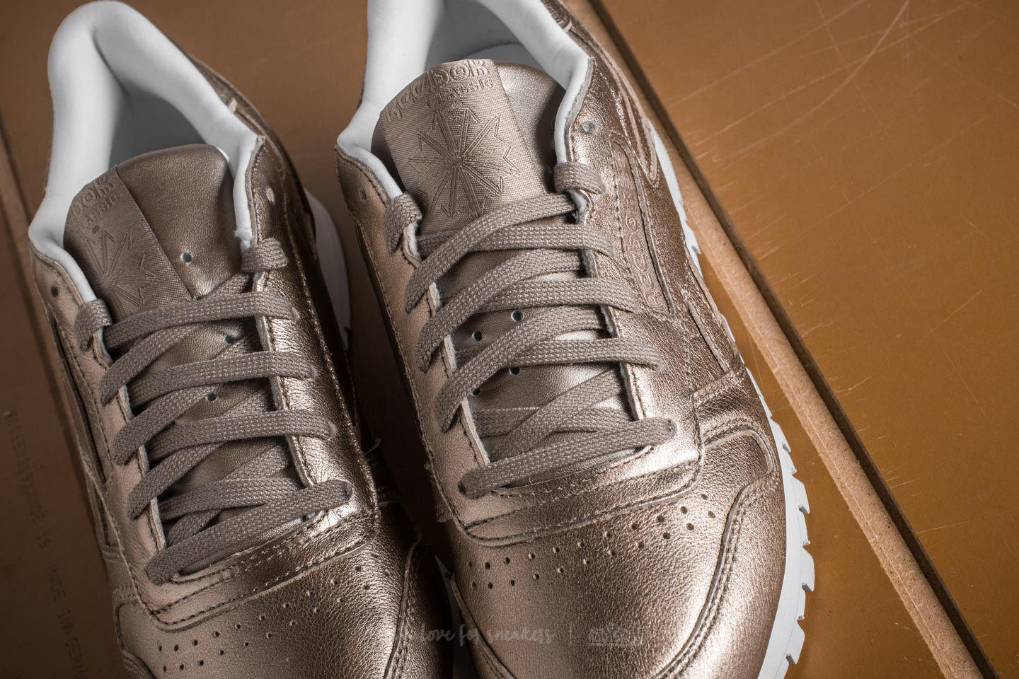 9aea8b6d471e1 Lyst - Reebok Leather Melted Metal Pearl Met-grey Gold  White in Gray