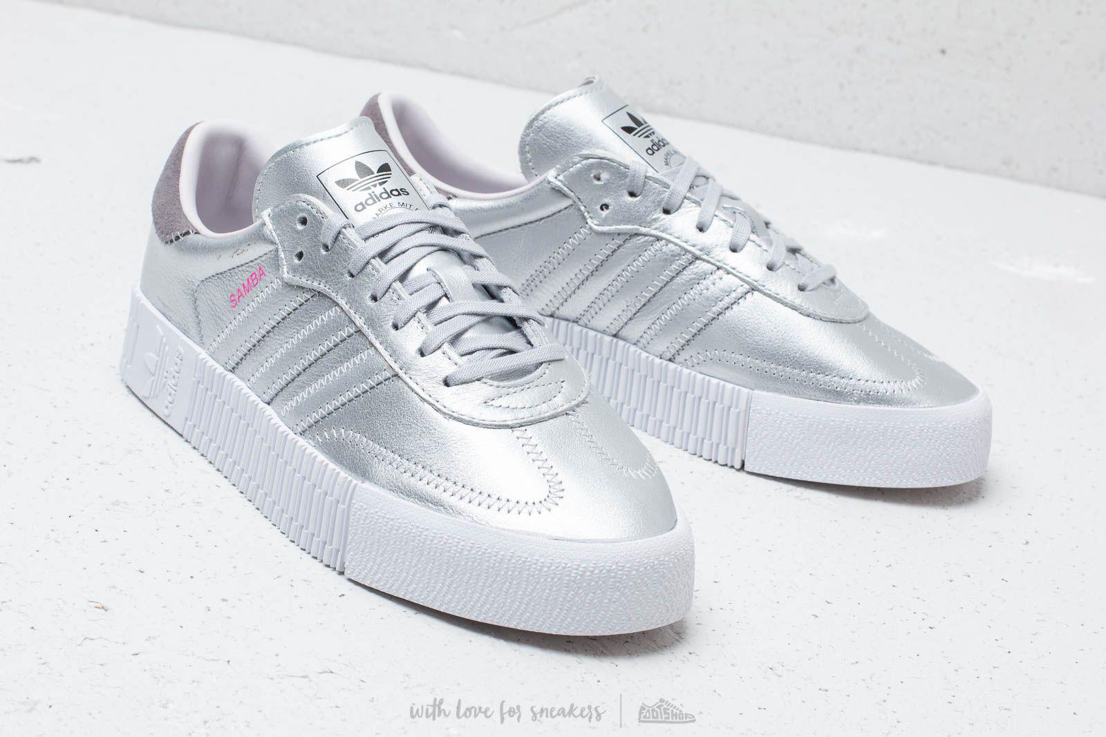 5353e7f5361c Lyst - adidas Originals Adidas Sambarose W Silver Metallic  Silver ...