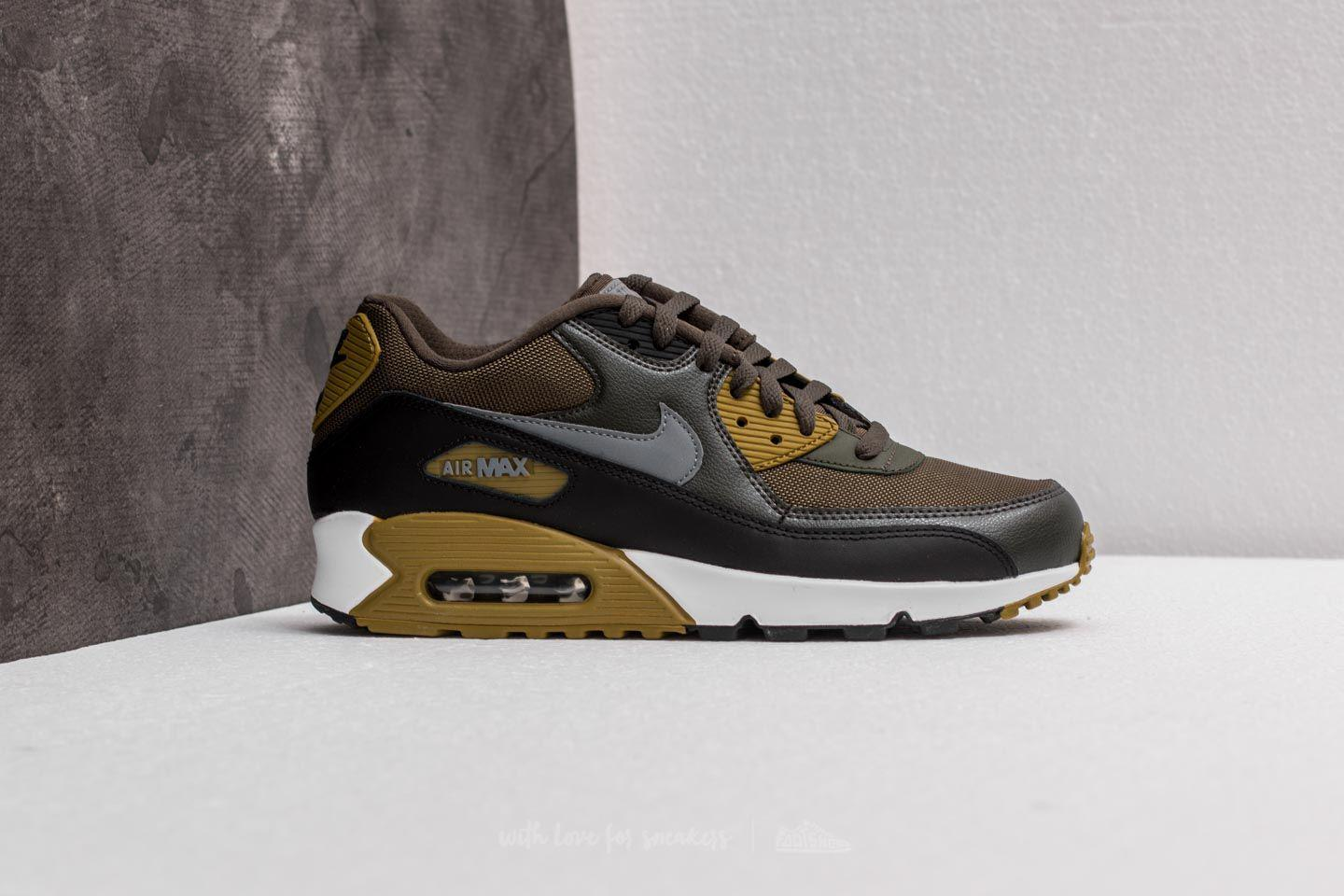 Nike Leather Air Max 90 Essential Cargo Khaki/ Cool Grey-black for ...
