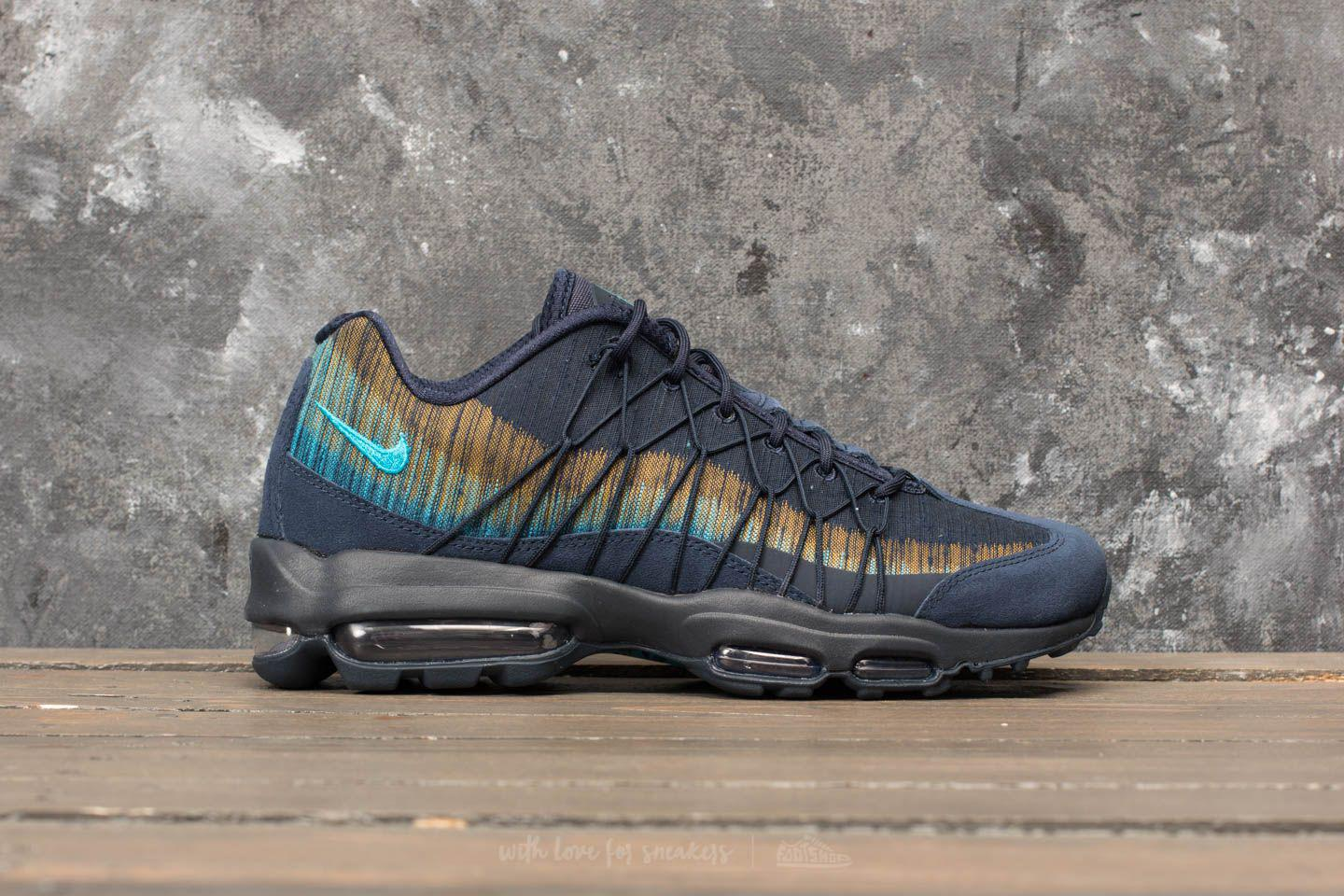 huge selection of 86489 8dfbe Lyst - Nike Air Max 95 Ultra Jacquard Obsidian  Light Blue Fury in ...