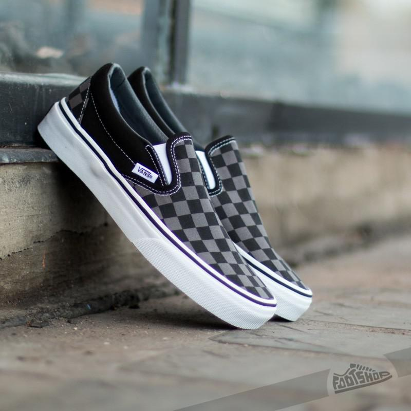 Classic Slip-on Black/ Pewter Checkerboard