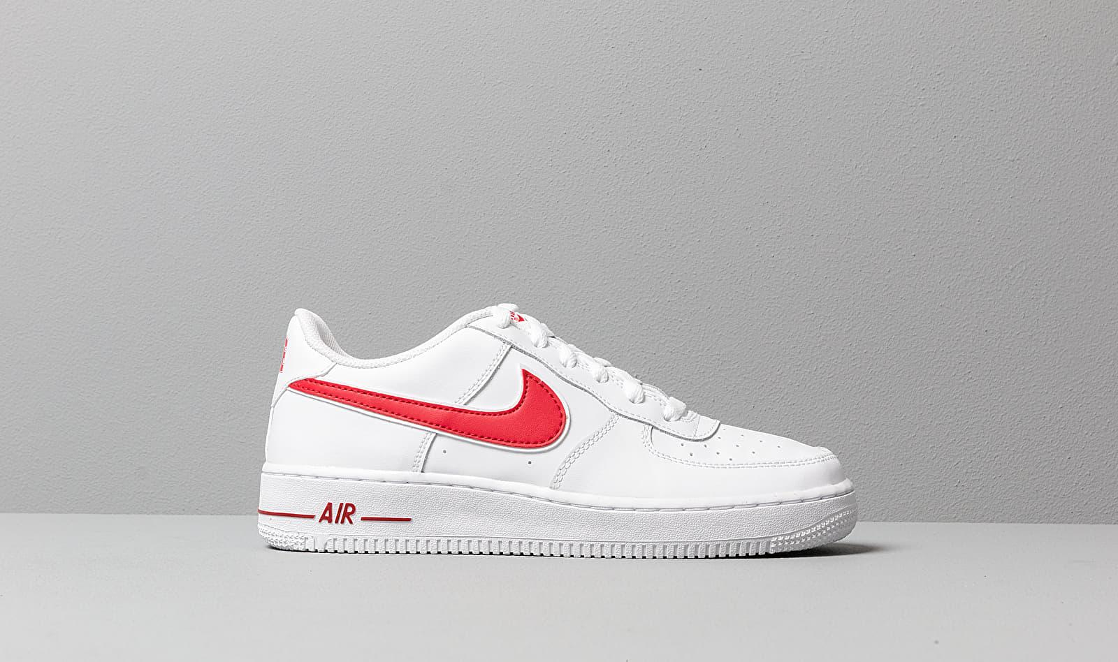 Nike Air Force 1-3 (gs) White/ Gym Red - Lyst