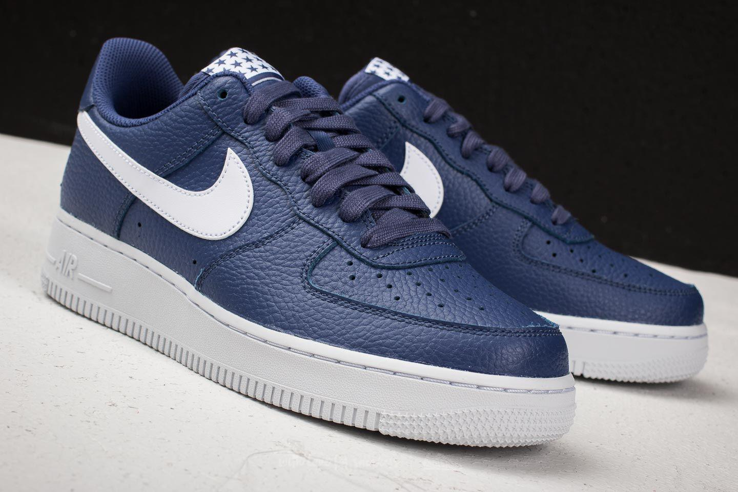 Nike Leather Air Force 1 '07 Blue