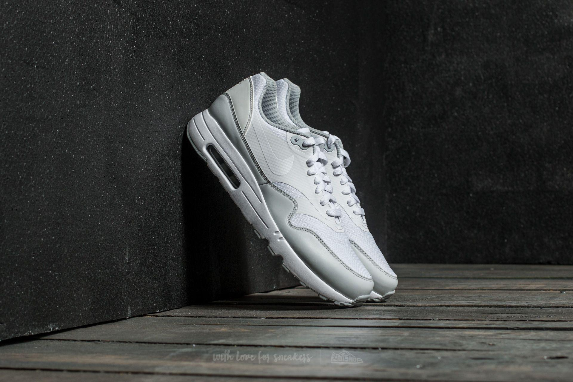 Nike Air Max 1 Ultra Essential White White Pure Platinum Racer Blue | Footshop