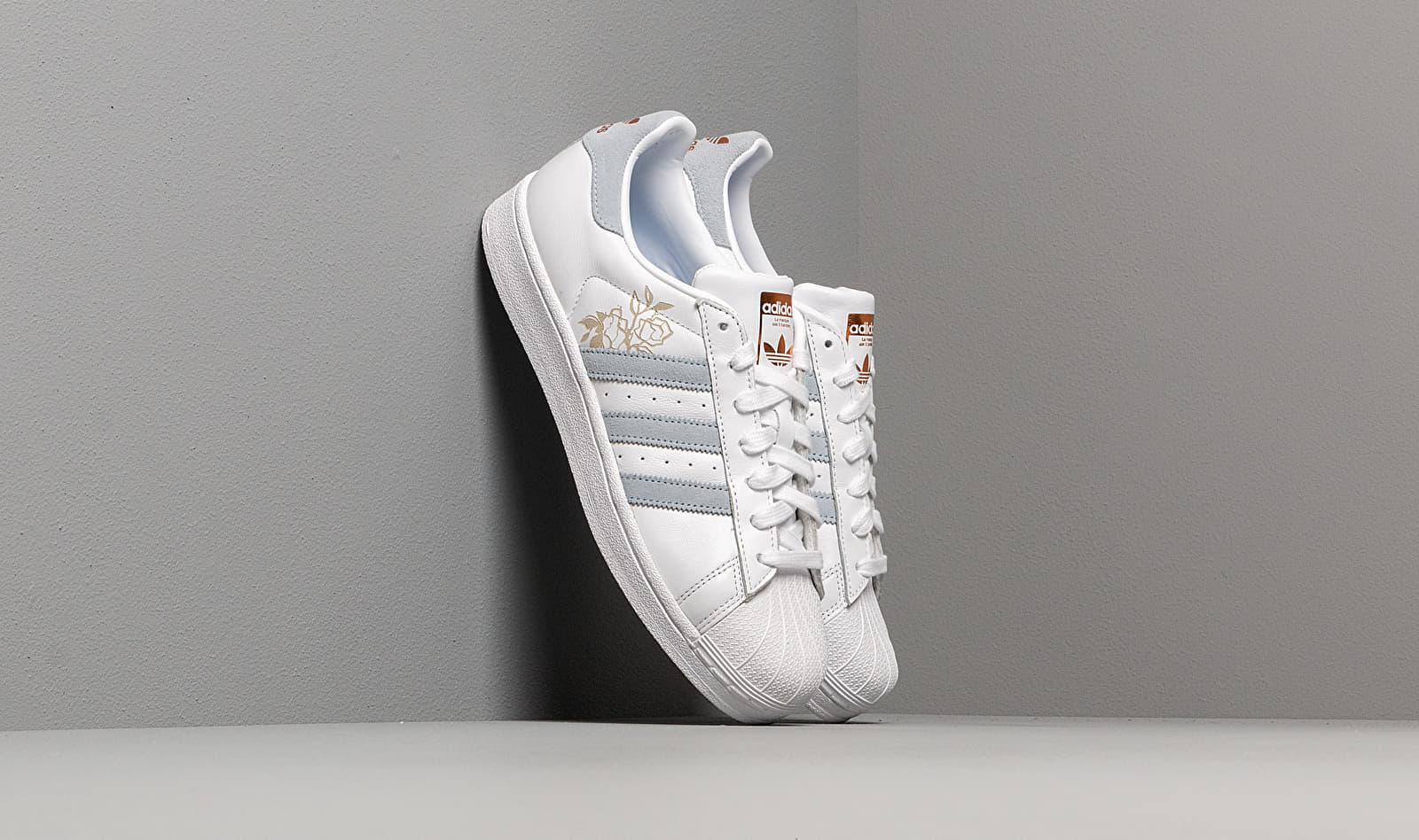 Women's Adidas Superstar W Ftw White Periwinkle Copper Metalic