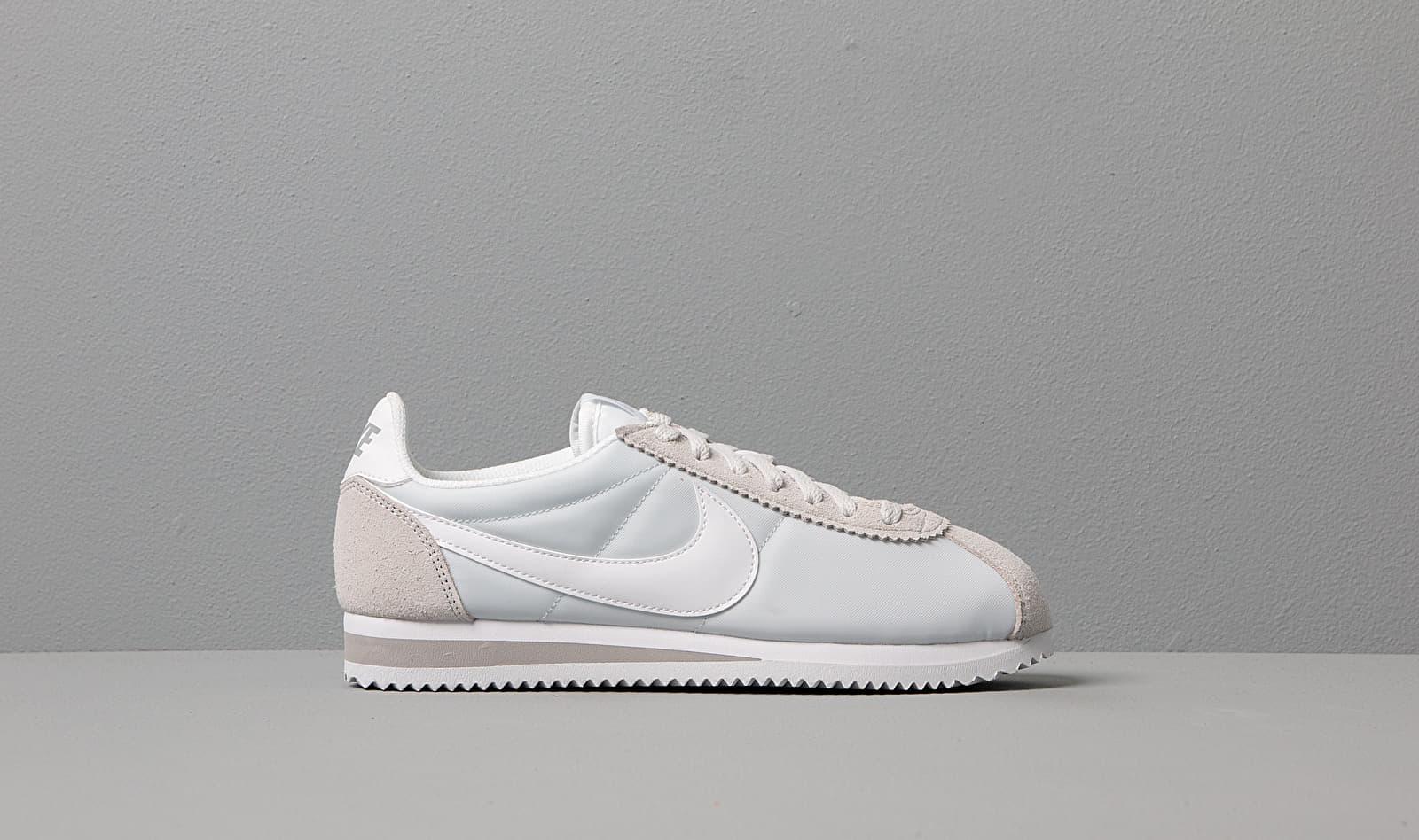 Wmns Classic Cortez Nylon Pure Platinum/ White en Synthétique Nike