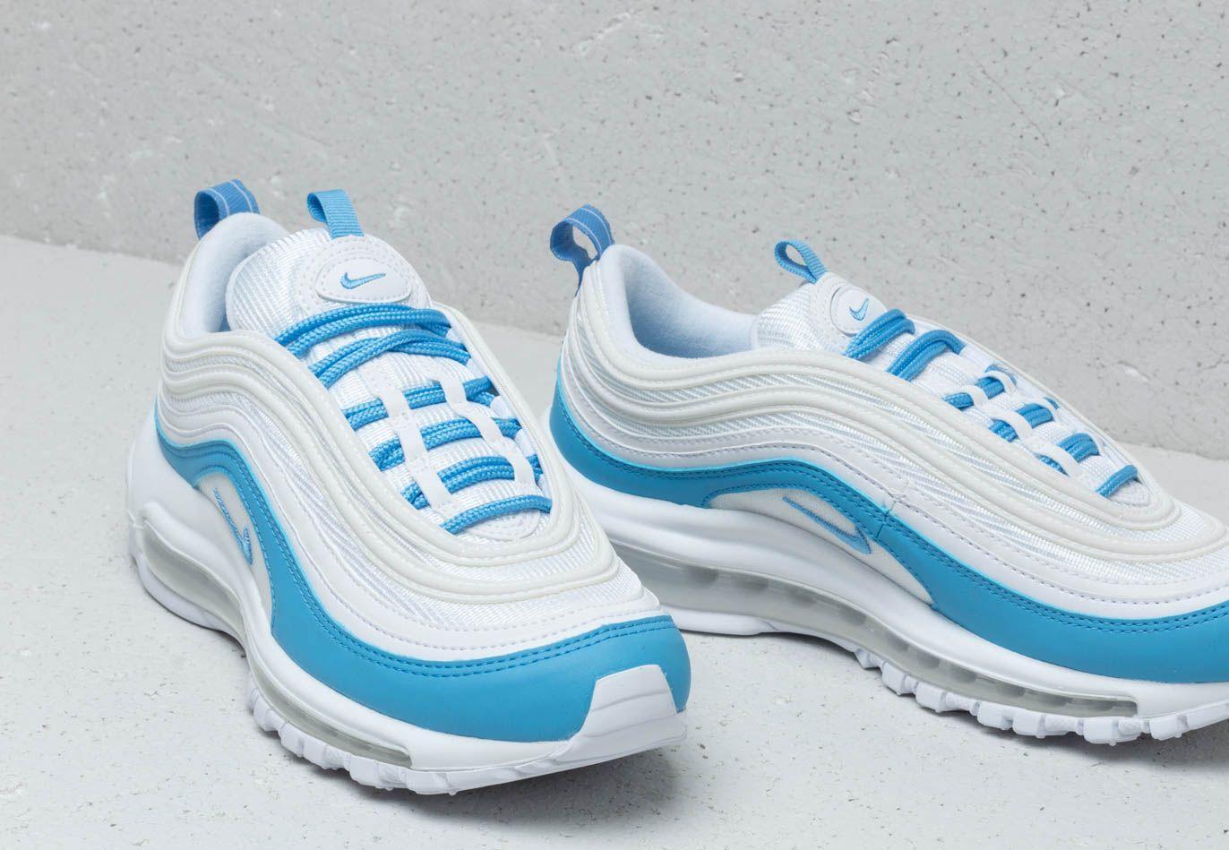Nike Rubber W Air Max 97 Ess White/ University Blue - Lyst