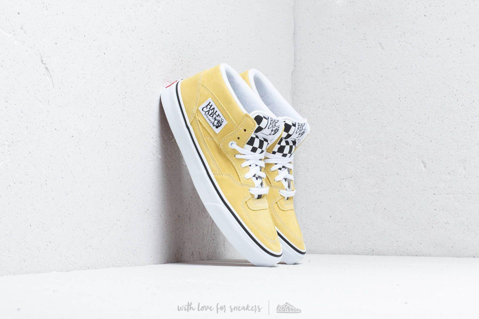 46e2cb85afb Lyst - Vans Half Cab (suede) Endive  True White in White for Men