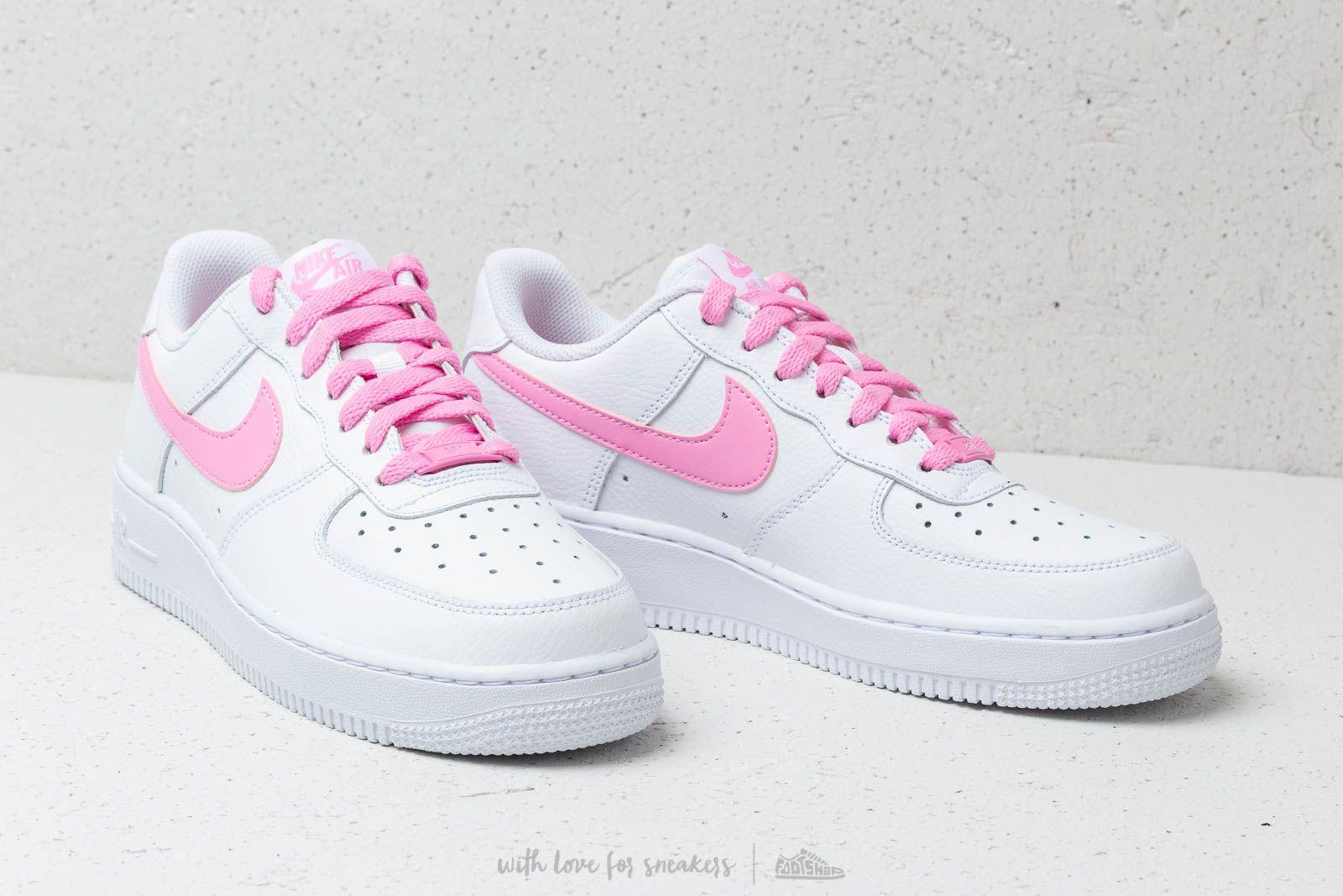 newest 08863 87faf Nike Wmns Air Force 1  07 Ess White  Psychic Pink in White - Lyst