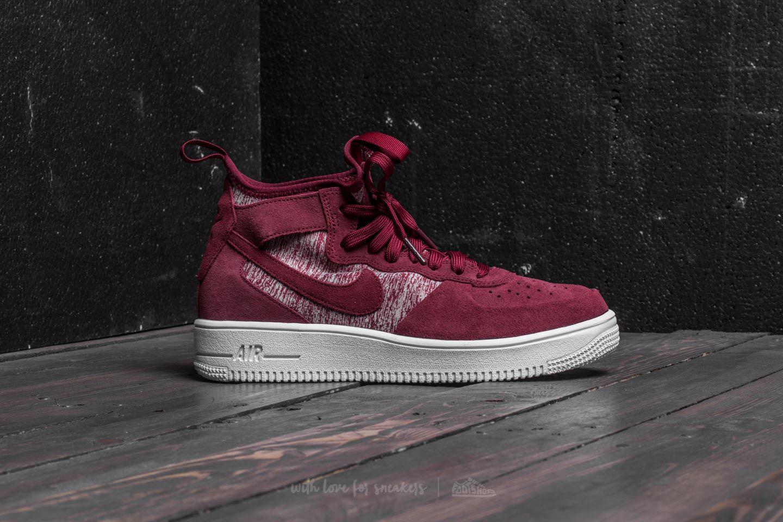 Original Fondos pintar  Nike Suede Air Force 1 Ultraforce Mid Premium Dark Team Red/ Dark ...