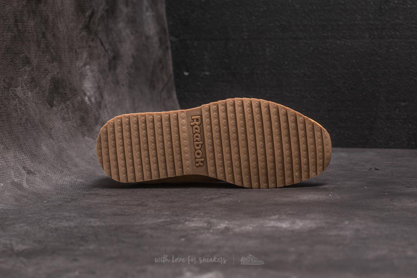 fd2b04c1f24f2 Lyst - Reebok Leather Ripple Wp Golden Wheat  Urban Grey  Chalk in ...