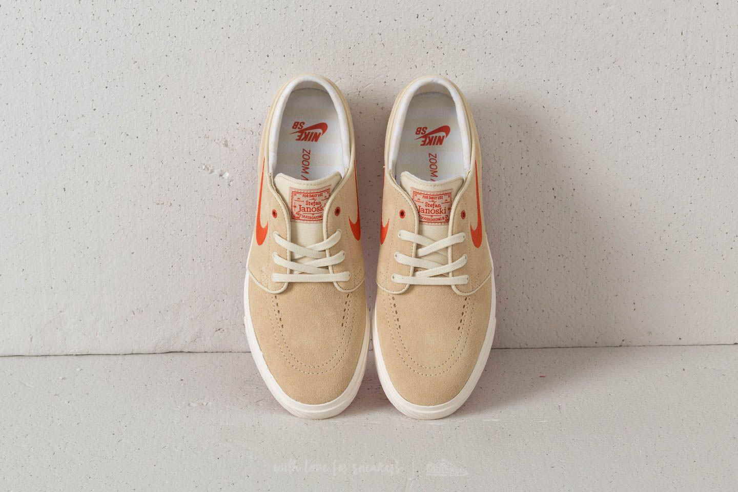 price reduced finest selection stable quality Nike Suede Zoom Stefan Janoski Fossil/ Vintage Coral/ Sail for Men ...