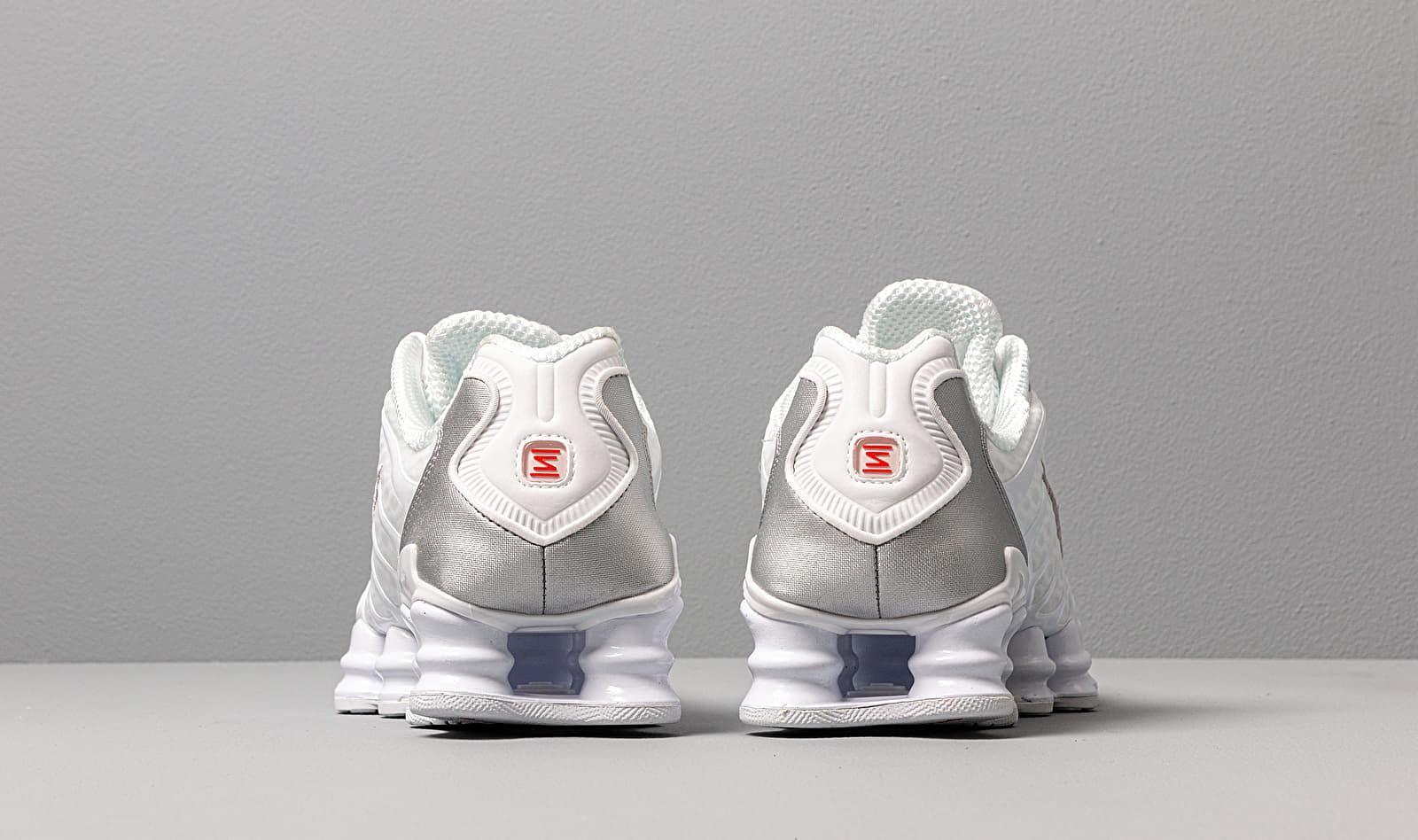 W Shox Tl White/ White-Metallic Silver-Max Orange Nike