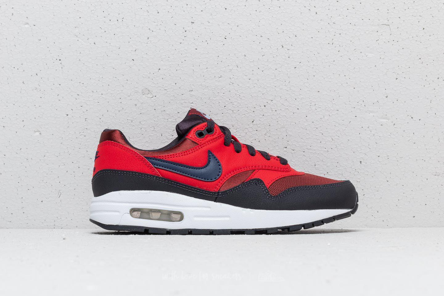 check out af2de 069c9 Nike Air Max 1 (gs) Rough Red  Midnight Navy in Red - Lyst