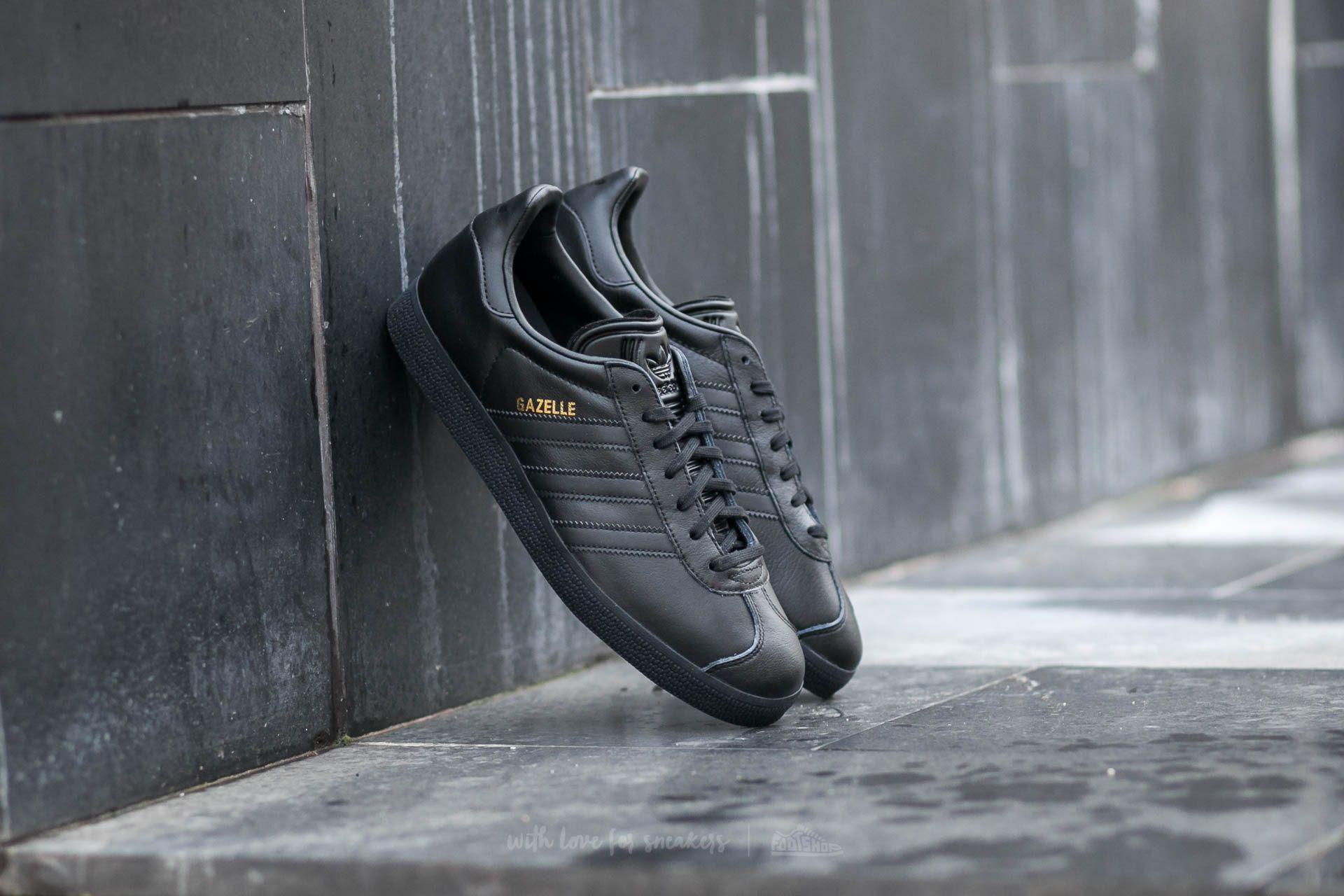 0f7941c41e5392 Lyst - adidas Originals Adidas Gazelle Core Black  Core Black  Gold ...