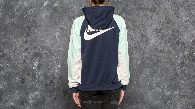 babba692e001 Lyst - Nike Sportswear Full Zip Pk Cb Hoodie Obsidian  Mint Foan ...