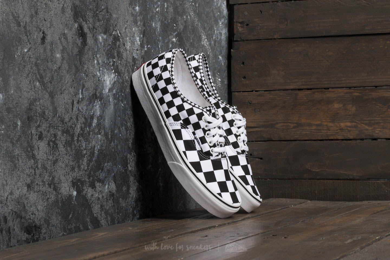 Vans Canvas Authentic (mix Checker) Black/ True White for Men - Lyst