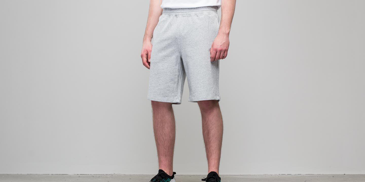3cee4160eb Stussy Gray Stock Terry Short Grey Heather for men