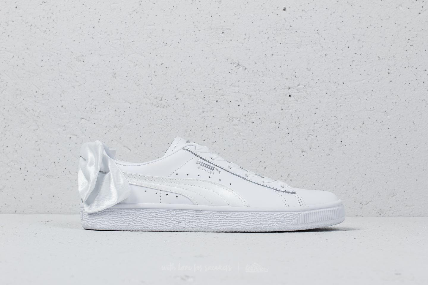5d9161e67f9 PUMA Basket Bow Wn's White/ White in White - Lyst