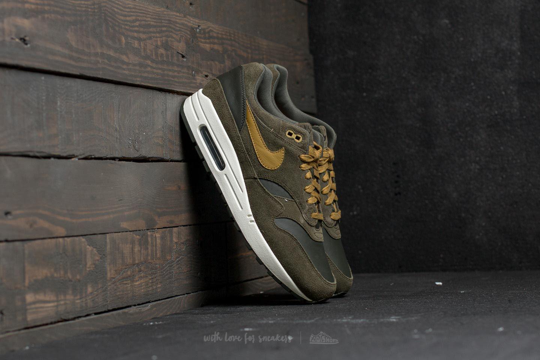 5f49965b16 Nike Air Max 1 Premium Leather Sequoia/ Desert Moss for Men - Lyst