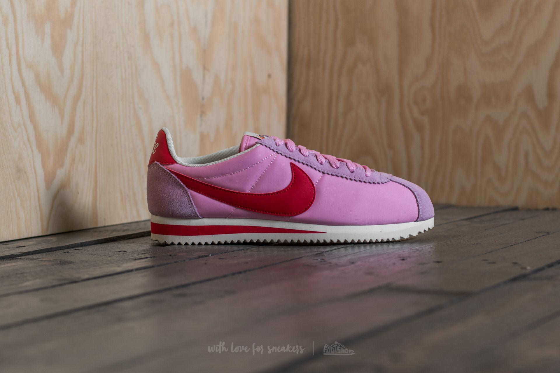 ad6147ef63444 spain nike cortez rose pink 988b5 052ce; uk lyst nike wmns classic cortez  nylon premium perfect pink sport 8c4bd 0f66d