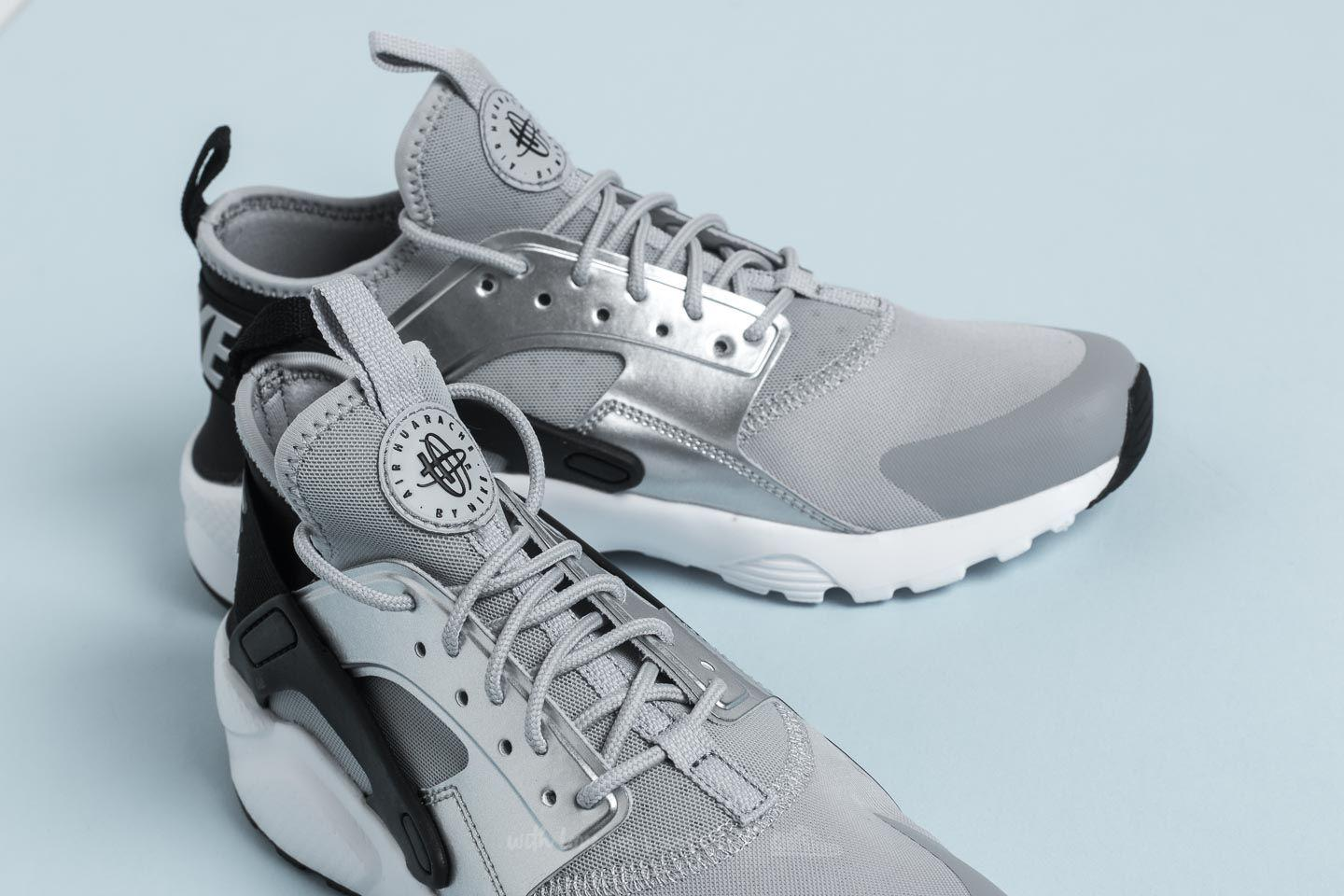 Lyst - Nike Air Huarache Run Ultra Gs Black  Wolf Grey in Gray for Men c19b0b43eb