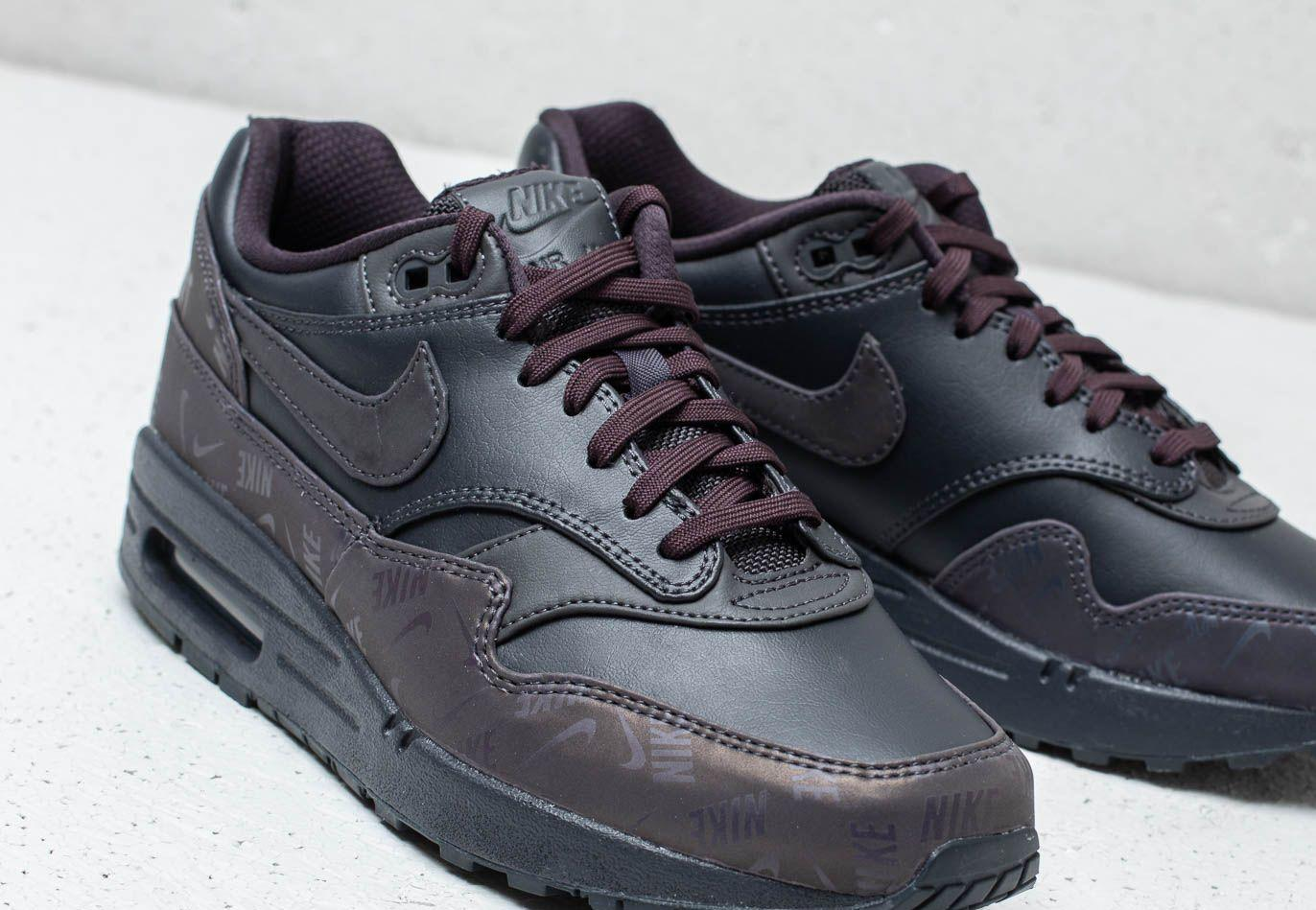 Nike Leather Wmns Air Max 1 Lx Oil Grey