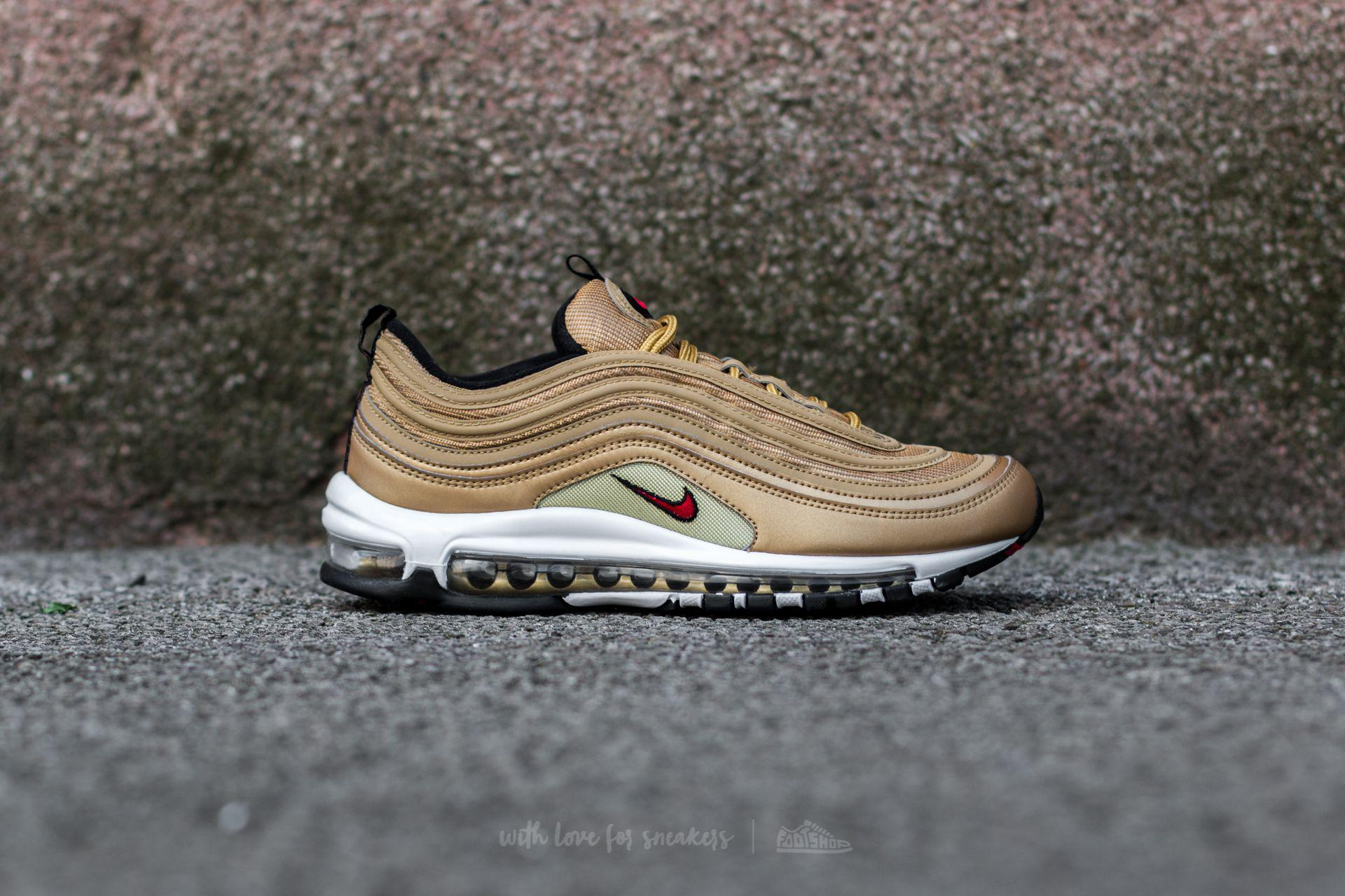 factory authentic 23e95 70168 Lyst - Nike W Air Max 97 Og Qs Metallic Gold Varsity Red in