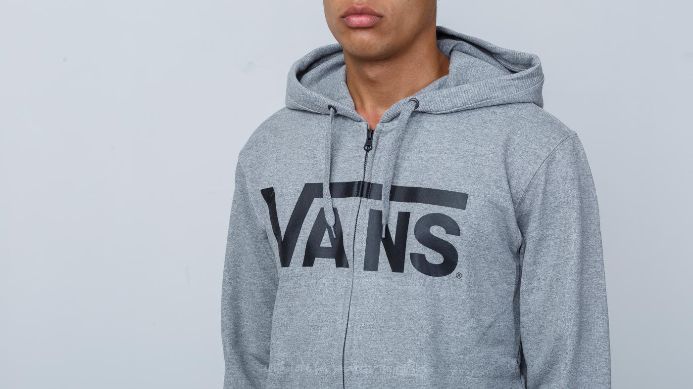 vans classic zip hoodie concrete