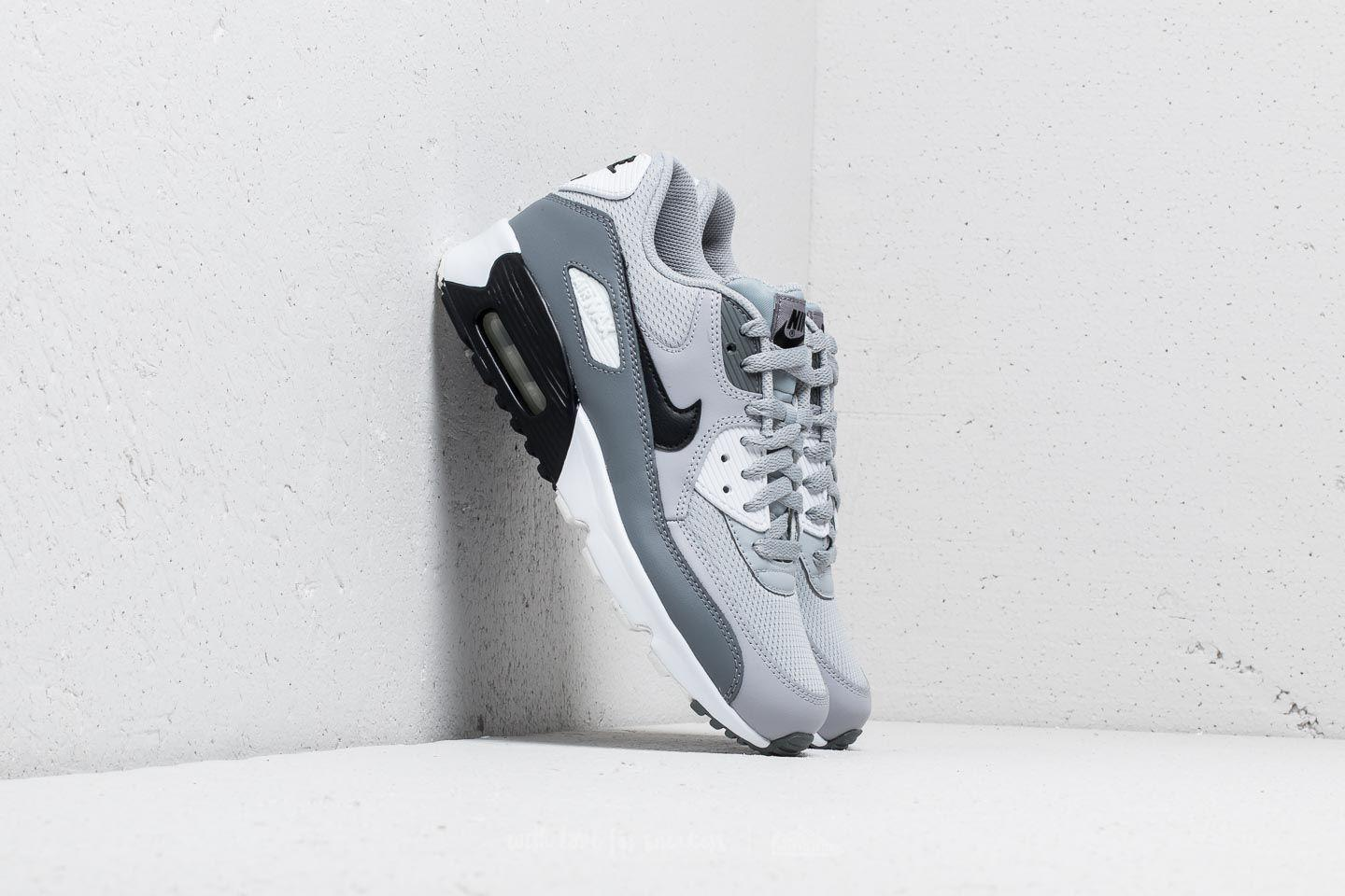 Nike Leather Air Max 90 Mesh (gs) Wolf Grey/ Black-cool Grey in ...