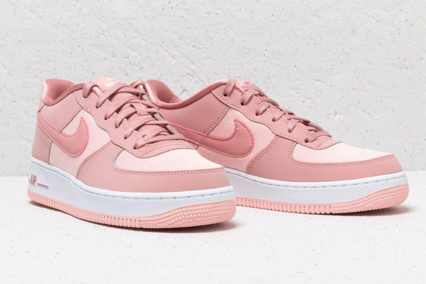 Nike Leather Air Force 1 Lv8 (gs) Rust