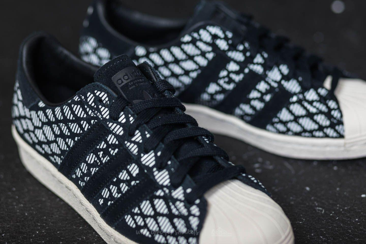 adidas superstar 80s w shoes black white