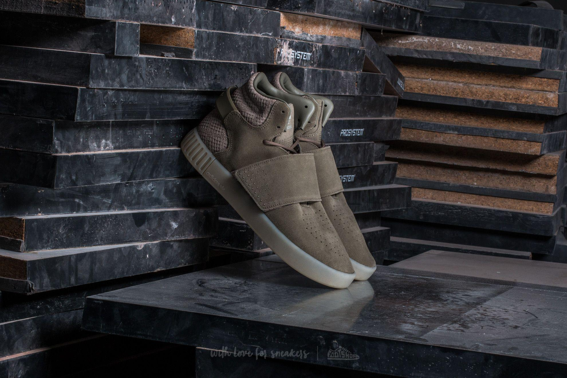 multiple colors innovative design differently Adidas Tubular Invader Strap Trace Cargo/ Trace Cargo/ Sesame