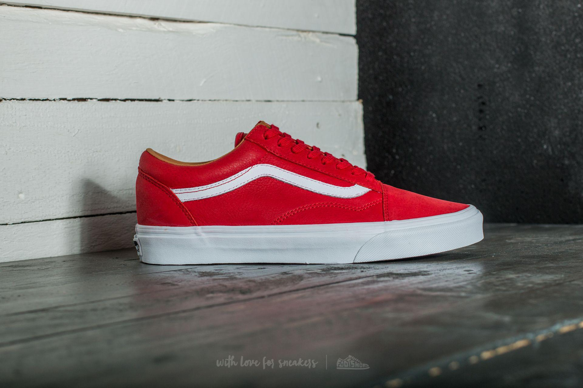 Old Skool (premium Leather) Racing Red True White