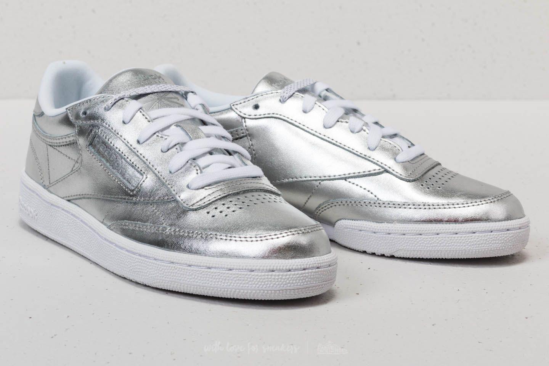 bab6f7c949078 Lyst - Reebok Reebok Club C 85 S Shine Silver  White in Metallic