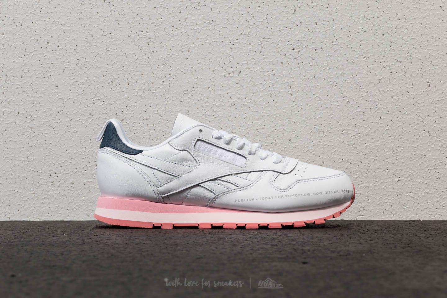 Reebok X Publish Classic Leather White Steel Porcelian Pink