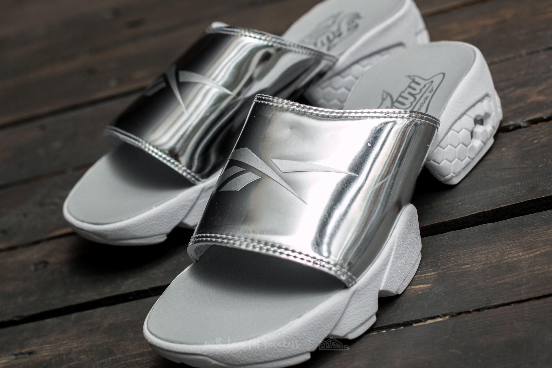 6053b7092 Lyst - Reebok Fury Slide Magic Hour Silver Metallic  White in Metallic