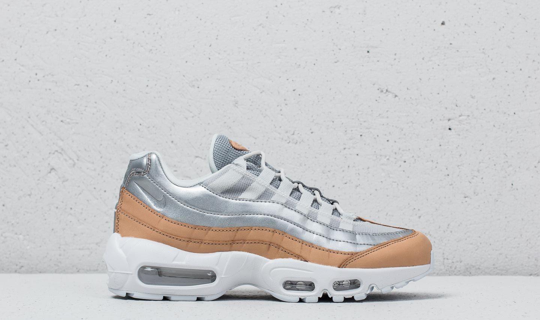 Nike Air Max 95 Se Premium Pure Platinum/ Metallic Silver in Gray ...