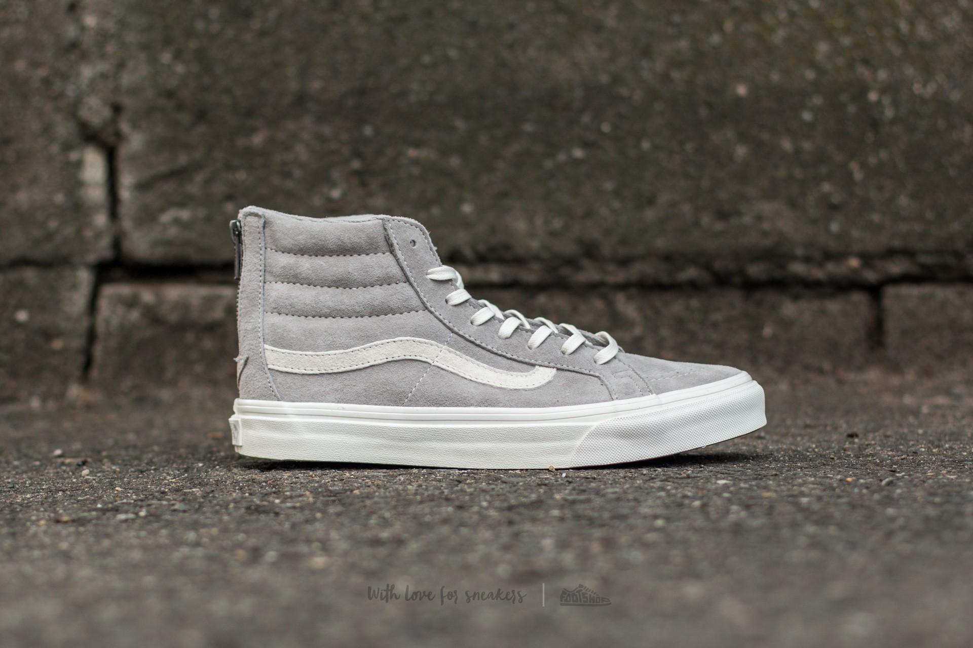 Vans SK8 Hi Slim Zip *Scotchgard* (Cool Grey Blanc de
