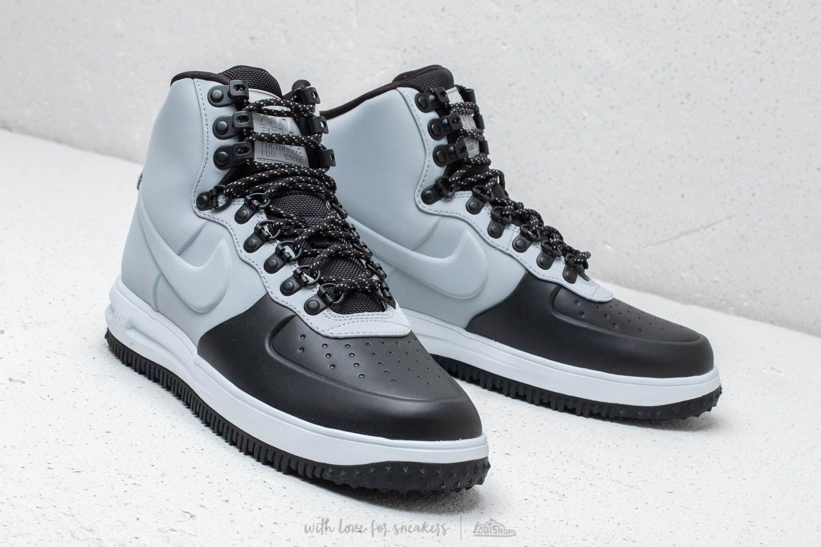 wholesale dealer 84b77 936f8 Nike Lunar Force 1 Duckboot  18 Black  Wolf Grey-pure Platinum in ...