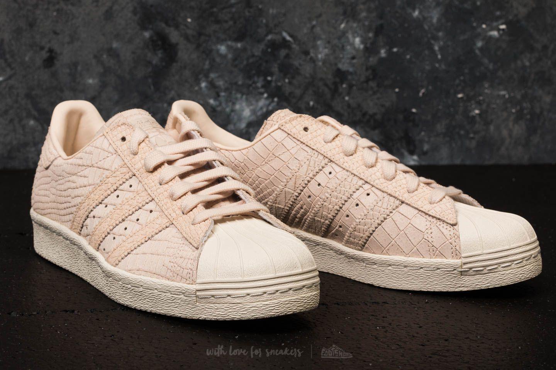 810f4a04b843 Lyst - adidas Originals Adidas Superstar 80s W Linen  Linen  Off White