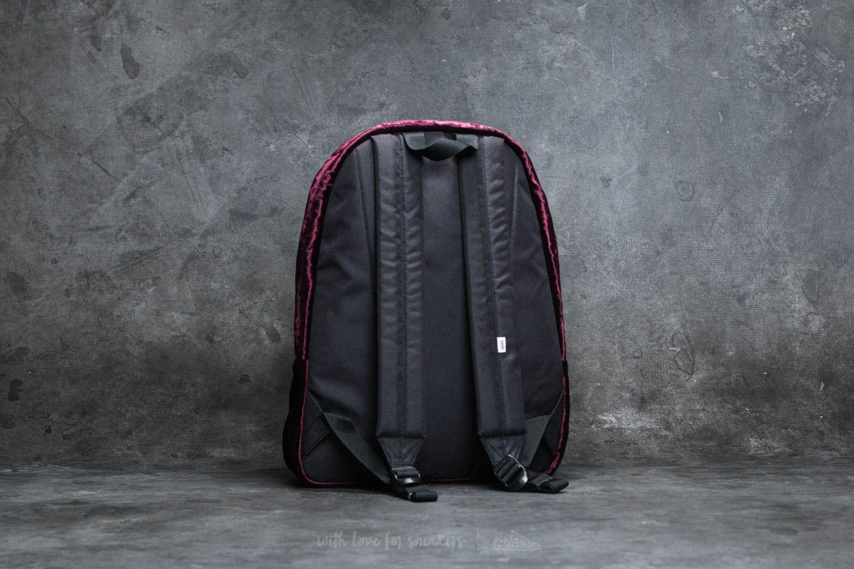ce39067dd7a Lyst - Vans Deana Crushed Velvet Backpack Burgundy