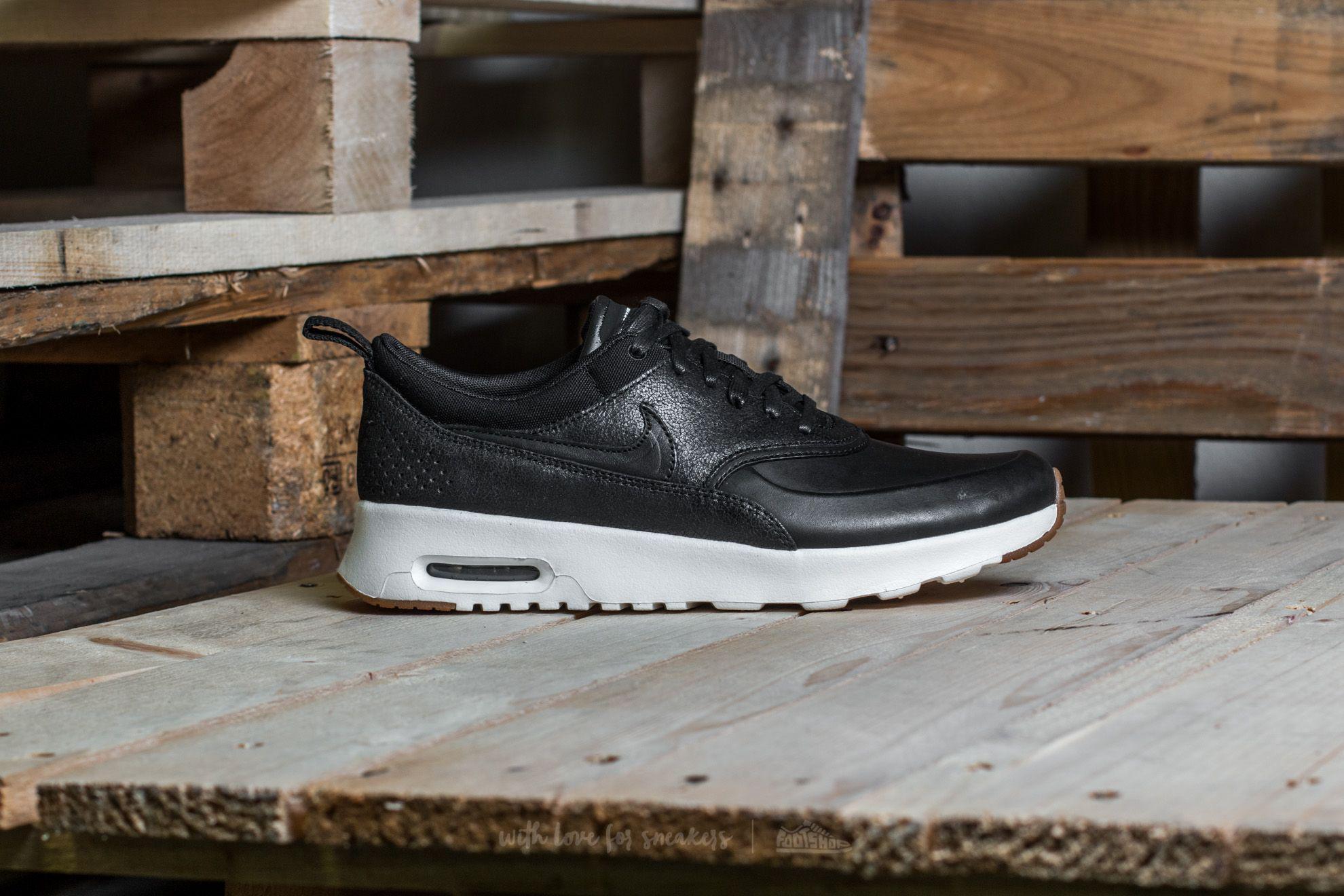 Nike Wmns Air Max Thea Premium Black Sail Gum Medium Brown