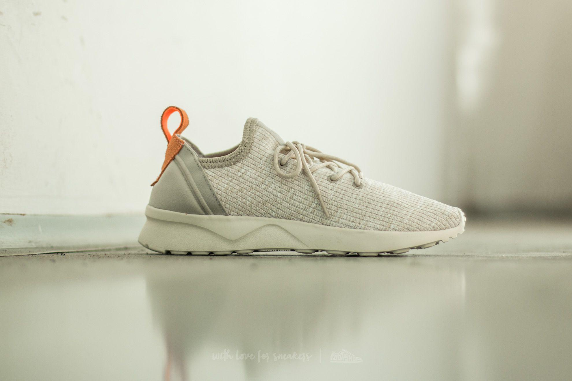 official photos official photos best authentic Adidas Zx Flux Adv Virtue Sock W Clear Brown/ Off White/ Sun Glow