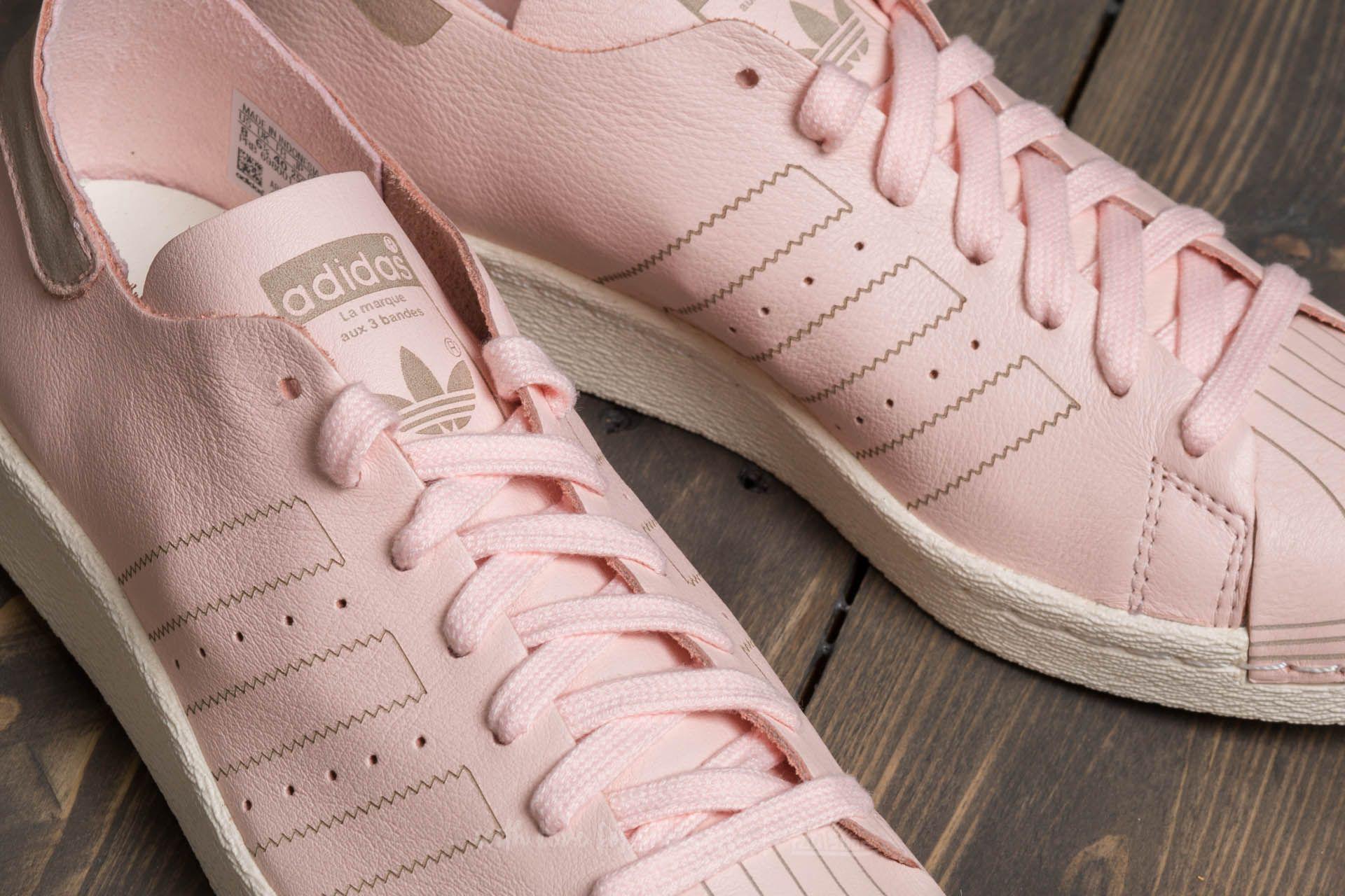 adidas superstar pink off white