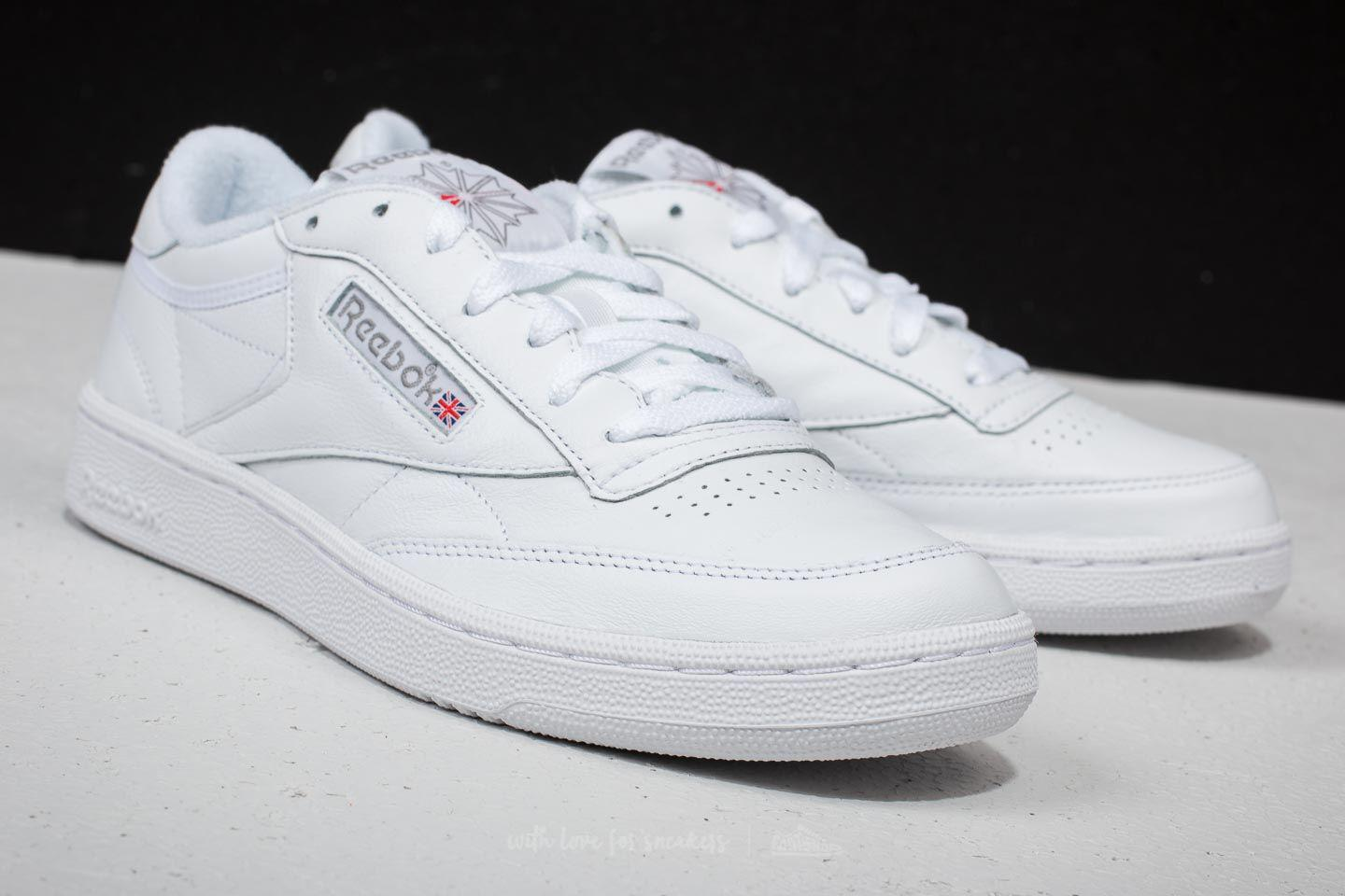 96aad61485694d Lyst - Reebok Reebok Club C 85 Archive White  Carbon  Excellent Red ...