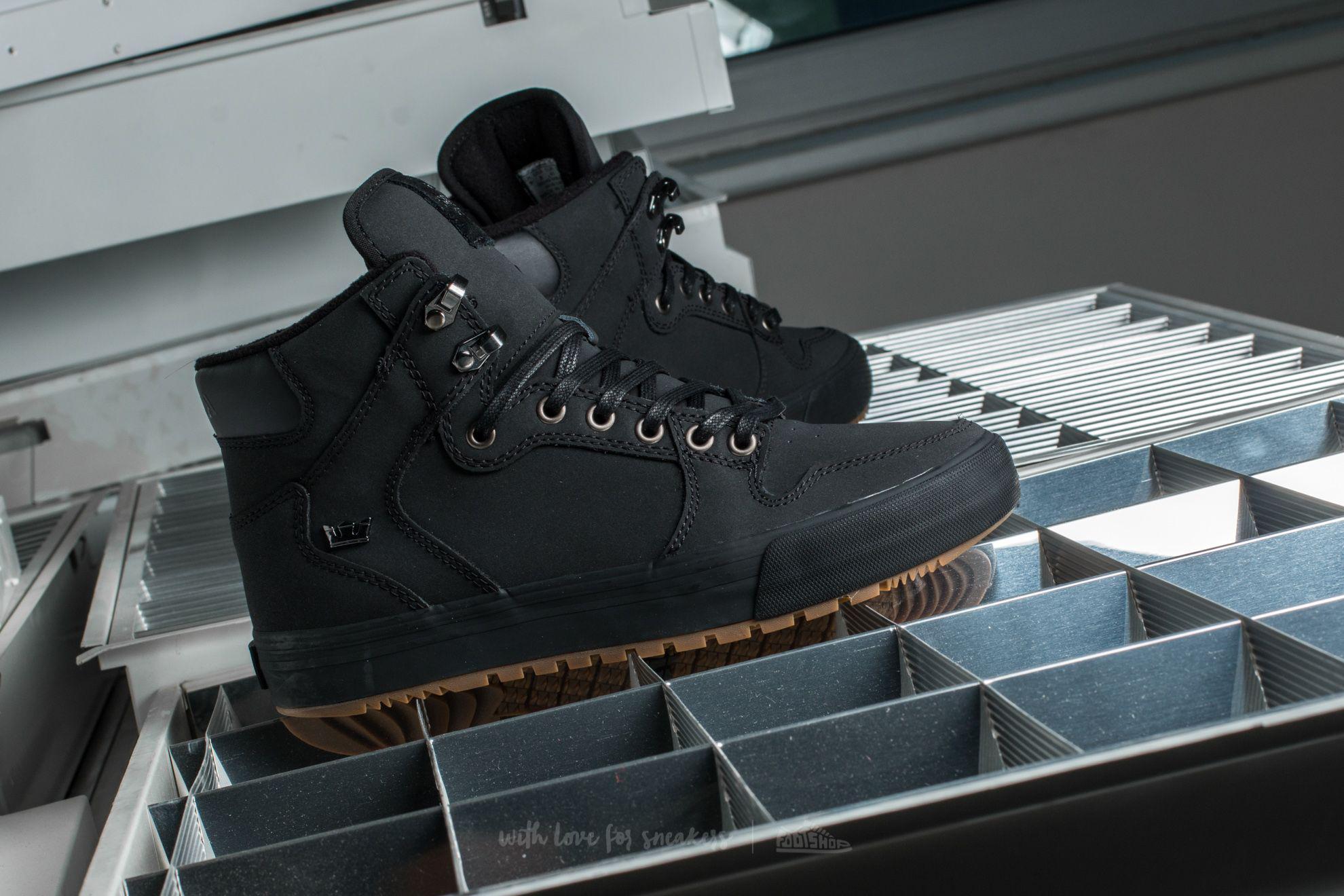 Black Gum Supra Vaider CW Shoes Black