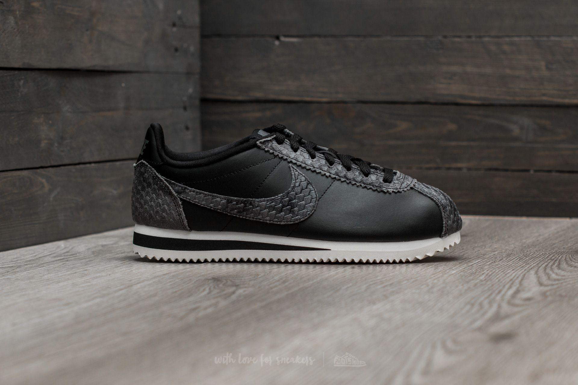ab8c203462a4 Lyst - Nike Wmns Classic Cortez Premium Black  Black-sail in Black
